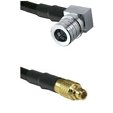 QMA Right Angle Male on LMR100 to MMCX Male Cable Assembly