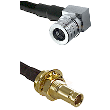 QMA Right Angle Male on LMR-195-UF UltraFlex to 10/23 Female Bulkhead Cable Assembly