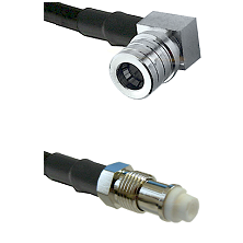 QMA Right Angle Male on LMR-195-UF UltraFlex to FME Female Cable Assembly