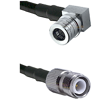 QMA Right Angle Male on LMR-195-UF UltraFlex to TNC Reverse Polarity Female Cable Assembly