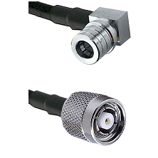 QMA Right Angle Male on LMR-195-UF UltraFlex to TNC Reverse Polarity Male Cable Assembly