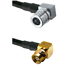QMA Right Angle Male on LMR-195-UF UltraFlex to SMC Right Angle Female Cable Assembly