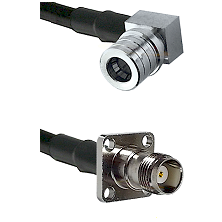 QMA Right Angle Male on LMR-195-UF UltraFlex to TNC 4 Hole Female Cable Assembly