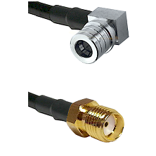 QMA Right Angle Male Connector On LMR-240UF UltraFlex To SMA Reverse Thread Female Connector Coaxial
