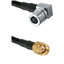 QMA Right Angle Male on LMR240 Ultra Flex to SMA Reverse Thread Male Cable Assembly