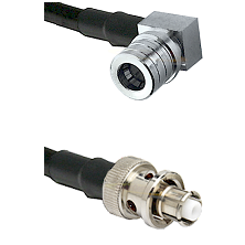 QMA Right Angle Male Connector On LMR-240UF UltraFlex To SHV Plug Connector Cable Assembly