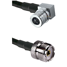 QMA Right Angle Male on LMR240 Ultra Flex to UHF Female Cable Assembly