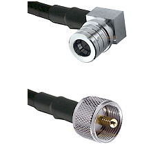 QMA Right Angle Male on LMR240 Ultra Flex to UHF Male Cable Assembly