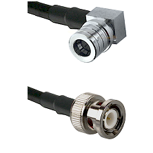 QMA Right Angle Male on RG142 to BNC Male Cable Assembly