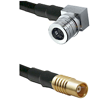 QMA Right Angle Male on RG142 to MCX Female Cable Assembly
