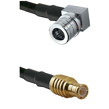 QMA Right Angle Male on RG142 to MCX Male Cable Assembly