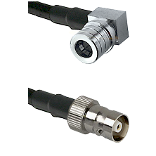 QMA Right Angle Male on RG58C/U to C Female Cable Assembly