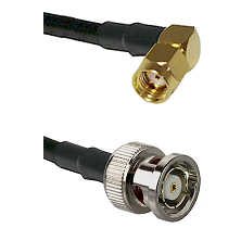 SMA Reverse Polarity Right Angle Male on RG142 to BNC Reverse Polarity Male Cable Assembly