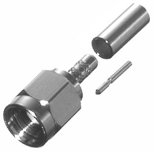 RSA-3000-7 RF Industries SMA MALE CRIMP, CBL GRP M, Nickel,Gold,T