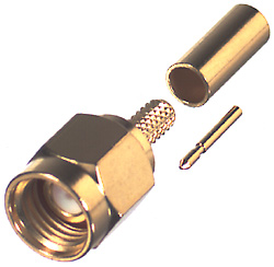 RSA-3000-B-SS RF Industries SMA MALE CRIMP, PASS SST HOUSING & BODY, Gold,T; FOR RG-174/U & RG316/U