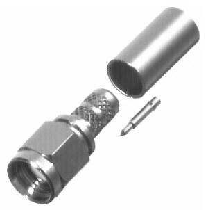 RSA-3000-C1 RF Industries SMA, MALE CRIMP, Nickel,Gold,T; FOR RG-142/U & RG-55/U, CBL GRP C1