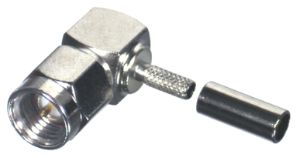 RSA-3010-B RF Industries SMA, MALE Right Angle CRIMP, Nickel,Gold,T; FOR RG-174/U & RG316/U, LMR100A
