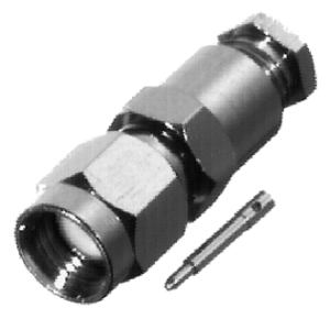 RSA-3100-B RF Industries SMA, MALE SOLDER CLAMP, Nickel,Gold,T; FOR RG-174/U, RG316/U, LMR100A & RG-