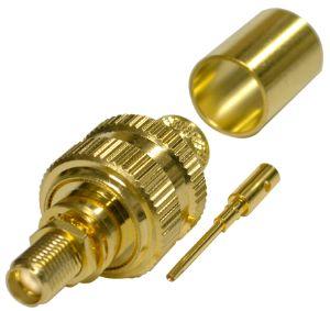 RSA-3252-1I RF Industries SMA, FEM BLKHD, W/O GASKET, Gold,Gold,T; FOR LMR-400, CBL GRP I
