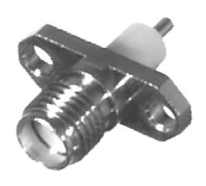 RSA-3268 RF Industries SMA, FEM 2-HOLE PANEL MNT, 196 EXTENDED DIELECTIC, POST TERMINAL, Nickel,Gol
