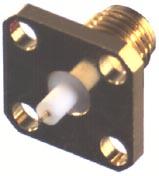 RSA-3279-10 RF Industries SMA JACK, 4-HOLE FLANGE MOUNT RECEPTACLE, Gold,Gold,T
