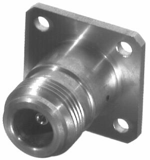 RSA-3290 RF Industries SMA FEM TO N FEM ADAPTER , 4-HOLE PANEL MNT, ST STEEL SS-G-T