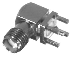 RSA-3300-NL RF Industries SMA, FEM, Right Angle PCB MNT, Gold,Gold,T