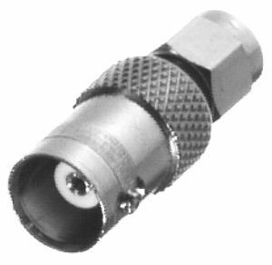 RSA-3458 RF Industries SMA MALE TO BNC FEM ADAPTER, Nickel,Gold,T
