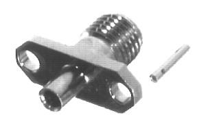 RSA-3550-085 RF Industries SMA, FEM 2-HOLE PANEL MNT, Nickel,Gold,T; FOR 085 SEMI-RIGID CABLE, CBL