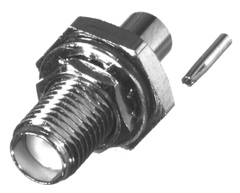 RSA-3560-1-047 RF Industries SMA, FEM BLKHD, REAR MNT, Gold,Gold,T; FOR 047 SEMI-RIGID, CBL GRP SR