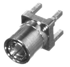 RSB-260-1 RF Industries MINI-SMB 75 OHM VERTICAL Plug, PCB MNT, Gold,Gold,T