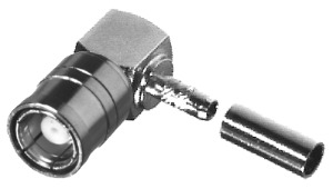 RSB-310-1-179 RF Industries SMB 75 OHM Right Angle CRIMP Plug, Gold,Gold,T; FOR RG-179/U ONLY, CBL G