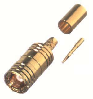 RSB-4000-1B1 RF Industries SMB CRIMP Plug, STANDARD GRIP, Gold,Gold,T; FOR RD-174/U & RD-316/U, CBL
