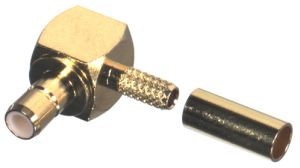 RSB-4055-1B RF Industries SMB JACK, Right Angle CRIMP, Gold,Gold,T; FOR RG-174/U & RG316/U, LMR100A,