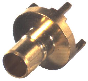 RSB-4350-1-75 RF Industries SMB JACK, VERT PCB MNT, 75 OHM, Gold,Gold,T