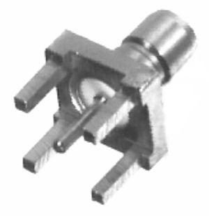 RSB-4350-1 RF Industries SMB JACK, VERT PCB MNT, Gold,Gold,T