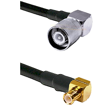 SC Right Angle Male on LMR-195-UF UltraFlex to MCX Right Angle Male Cable Assembly