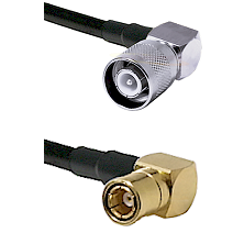 SC Right Angle Male on LMR-195-UF UltraFlex to SMB Right Angle Female Cable Assembly