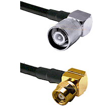 SC Right Angle Male on LMR-195-UF UltraFlex to SMC Right Angle Female Cable Assembly