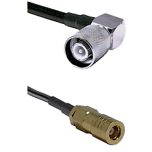 SC Right Angle Male on LMR-195-UF UltraFlex to SLB Female Cable Assembly