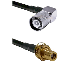 SC Right Angle Male on LMR-195-UF UltraFlex to SLB Female Bulkhead Cable Assembly
