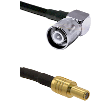 SC Right Angle Male on LMR-195-UF UltraFlex to SLB Male Cable Assembly