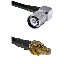 SC Right Angle Male on LMR-195-UF UltraFlex to SMC Male Bulkhead Cable Assembly