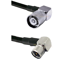 SC Right Angle Male on LMR200 UltraFlex to Mini-UHF Right Angle Male Cable Assembly
