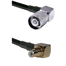 SC Right Angle Male on LMR200 UltraFlex to SMC Right Angle Male Cable Assembly