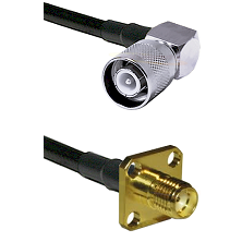SC Right Angle Male on LMR200 UltraFlex to SMA 4 Hole Female Cable Assembly