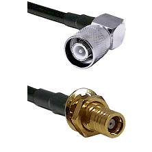 SC Right Angle Male on LMR200 UltraFlex to SMB Female Bulkhead Cable Assembly