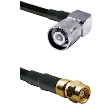 SC Right Angle Male on LMR200 UltraFlex to SMC Female Cable Assembly