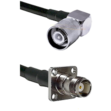 SC Right Angle Male on LMR200 UltraFlex to TNC 4 Hole Female Cable Assembly