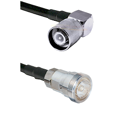 SC Right Angle Male Connector On LMR-240UF UltraFlex To 7/16 Din Female Connector Coaxial Cable Asse